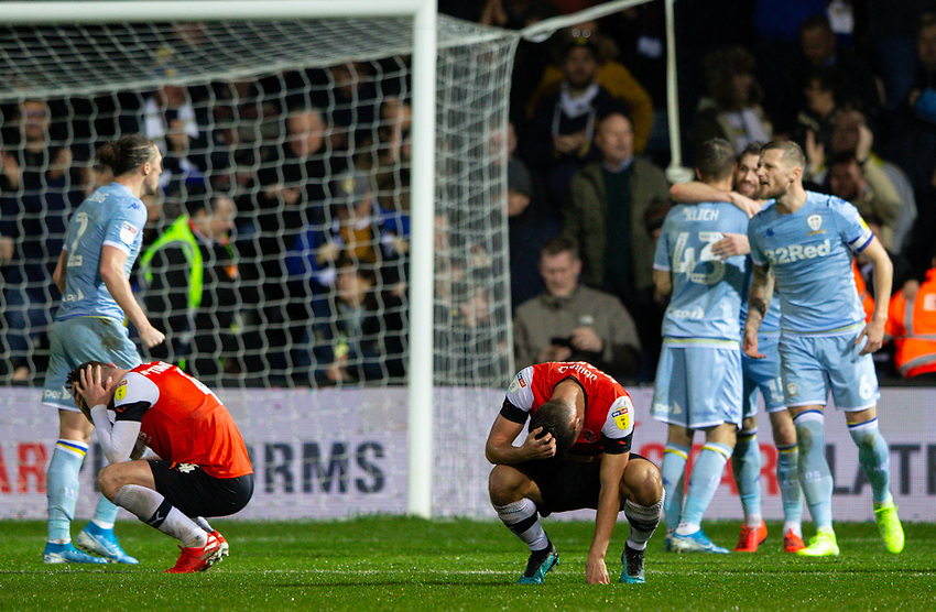 Players react after the match<br /> <br /> Photographer Alex Dodd/CameraSport<br /> <br /> The EFL Sky Bet Championship - 191123 Luton Town v Leeds United - Saturday 23rd November 2019 - Kenilworth Road - Luton<br /> <br /> World Copyright © 2019 CameraSport. All rights reserved. 43 Linden Ave. Countesthorpe. Leicester. England. LE8 5PG - Tel: +44 (0) 116 277 4147 - admin@camerasport.com - www.camerasport.com