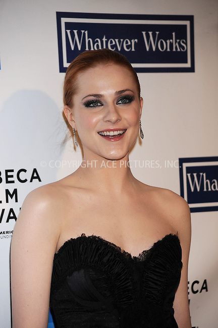 WWW.ACEPIXS.COM . . . . . ....April 22 2009, New York City....Actress Evan Rachel Wood arriving at the premiere of 'Whatever Works' during the 2009 Tribeca Film Festival at Ziegfeld on April 22, 2009 in New York City.....Please byline: KRISTIN CALLAHAN - ACEPIXS.COM.. . . . . . ..Ace Pictures, Inc:  ..tel: (212) 243 8787 or (646) 769 0430..e-mail: info@acepixs.com..web: http://www.acepixs.com