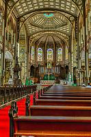 Fort-de-France, Martinique.  Saint Louis Cathedral Interior.