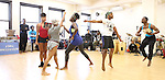 Ensemble Cast rehearsing for the touring company of 'FELA!'  at the Pearl Studios in New York City on 1/23/2013