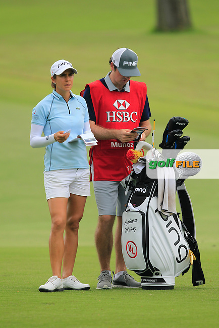 Azahara Munoz (ESP) on the 1st fairway during Round 2 of the HSBC Women's Champions on Friday 3rd March 2017.<br /> Picture:  Thos Caffrey / Golffile