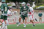 Palos Verdes, CA 04/20/10 - Austin Hafdell (Mira Costa #11) in action during the Mira Costa-Palos Verdes boys lacrosse game.