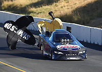 Jul 29, 2017; Sonoma, CA, USA; NHRA funny car driver Del Worsham during qualifying for the Sonoma Nationals at Sonoma Raceway. Mandatory Credit: Mark J. Rebilas-USA TODAY Sports