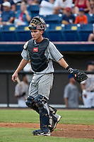 Chris Herrmann (7) of the Ft. Myers Miracle during a game vs. the Brevard County Manatees May 29 2010 at Space Coast Stadium in Viera, Florida. Ft. Myers won the game against Jupiter by the score of 3-2. Photo By Scott Jontes/Four Seam Images