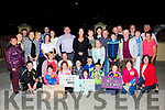 Julia McCarthy centre with her family and supporters at the Lord Mayor election dance in Gneeveguilla on Friday night