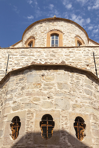 Exterior of the New Taxiarchis Church, in the village of Mesta, Chios, Greece <br /> CAP/MEL<br /> &copy;MEL/Capital Pictures /MediaPunch ***NORTH AND SOUTH AMERICA ONLY***