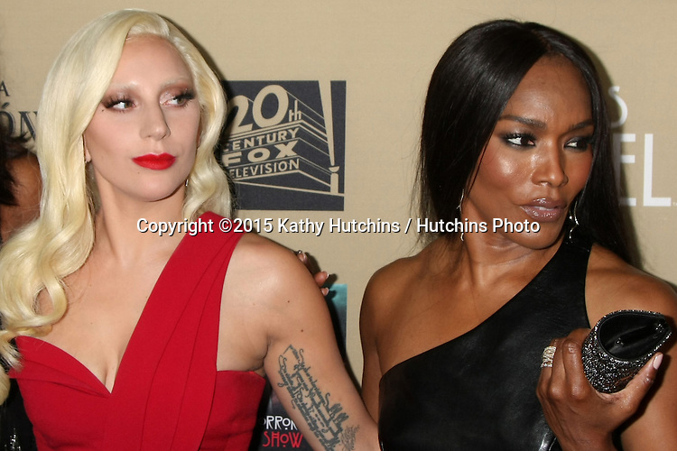 "LOS ANGELES - OCT 3:  Lady Gaga, Angela Bassett at the ""American Horror Story: Hotel"" Premiere Screening at the Regal 14 Theaters on October 3, 2015 in Los Angeles, CA"