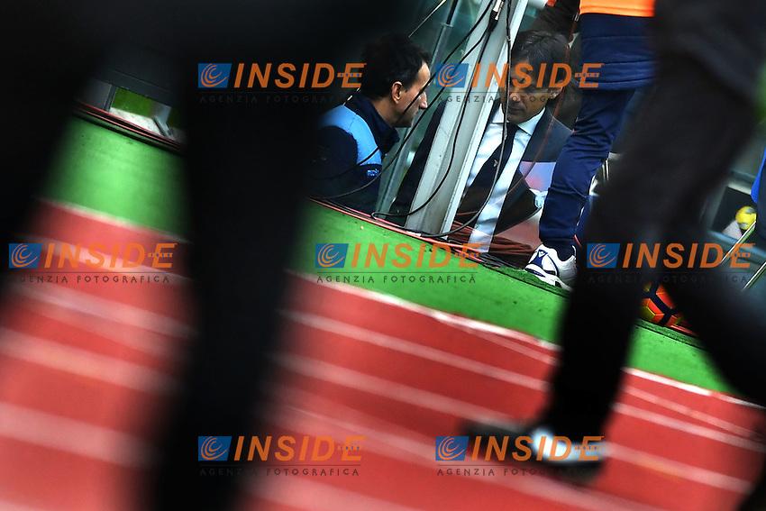 espulsione dell'allenatore della Lazio  Simone Inzaghi<br /> Roma 15-01-2017  Stadio Olimpico<br /> Campionato Serie A, <br /> Lazio - Atalanta <br /> Foto Antonietta Baldassarre / Insidefoto