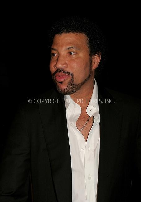 WWW.ACEPIXS.COM . . . . .  ....NEW YORK, APRIL 19, 2006....Lionel Richie at the 2006 Cipriani Deutsche Bank Concert Series Benefiting amfAR.....Please byline: NANCY RIVERA- ACEPIXS.COM.... *** ***..Ace Pictures, Inc:  ..Craig Ashby (212) 243-8787..e-mail: picturedesk@acepixs.com..web: http://www.acepixs.com