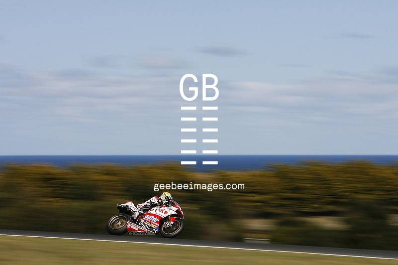 2008 Superbike World Championship, Round 2, Phillip Island, Australia, 2 March 2008.Troy Bayliss (AUS), 21, Xerox Ducati, 1098R, Superbike
