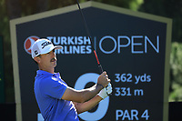 Wade Ormsby (AUS) in action during the first round of the Turkish Airlines Open, Montgomerie Maxx Royal Golf Club, Belek, Turkey. 07/11/2019<br /> Picture: Golffile | Phil INGLIS<br /> <br /> <br /> All photo usage must carry mandatory copyright credit (© Golffile | Phil INGLIS)