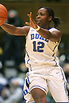 06 February 2012: Duke's Chelsea Gray. The Duke University Blue Devils defeated the University of North Carolina Tar Heels 96-56 at Cameron Indoor Stadium in Durham, North Carolina in an NCAA Division I Women's basketball game.