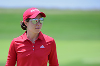 Carlota Ciganda (ESP) warms up on the practice green before  Sunday's final round of the 72nd U.S. Women's Open Championship, at Trump National Golf Club, Bedminster, New Jersey. 7/16/2017.<br /> Picture: Golffile | Ken Murray<br /> <br /> <br /> All photo usage must carry mandatory copyright credit (&copy; Golffile | Ken Murray)