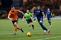 8th November 2019; Dens Park, Dundee, Scotland; Scottish Championship Football, Dundee Football Club versus Dundee United; Declan McDaid of Dundee runs at Liam Smith of Dundee United  - Editorial Use