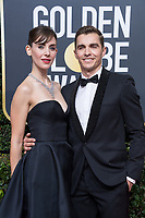 Nominated for BEST PERFORMANCE BY AN ACTRESS IN A TELEVISION SERIES &ndash; COMEDY OR MUSICAL for her role in &quot;GLOW,&quot; actress Alison Brie and Dave Franco attend the 75th Annual Golden Globes Awards at the Beverly Hilton in Beverly Hills, CA on Sunday, January 7, 2018.<br /> *Editorial Use Only*<br /> CAP/PLF/HFPA<br /> &copy;HFPA/PLF/Capital Pictures