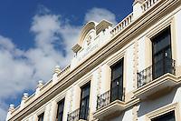 Facade of the Gran Hotel in downtown Merida, Yucatan, Mexico...