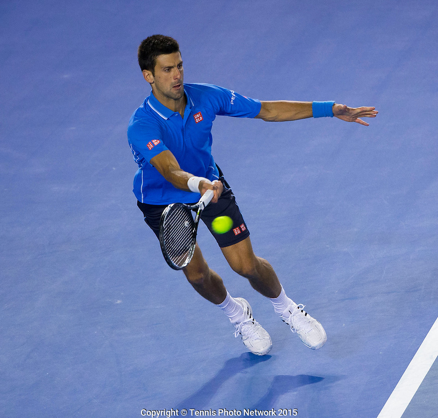 Novak Djokovic (SRB)<br /> <br /> Tennis - Australian Open 2015 - Grand Slam -  Melbourne Park - Melbourne - Victoria - Australia  - 26 January 2015. <br /> &copy; AMN IMAGES