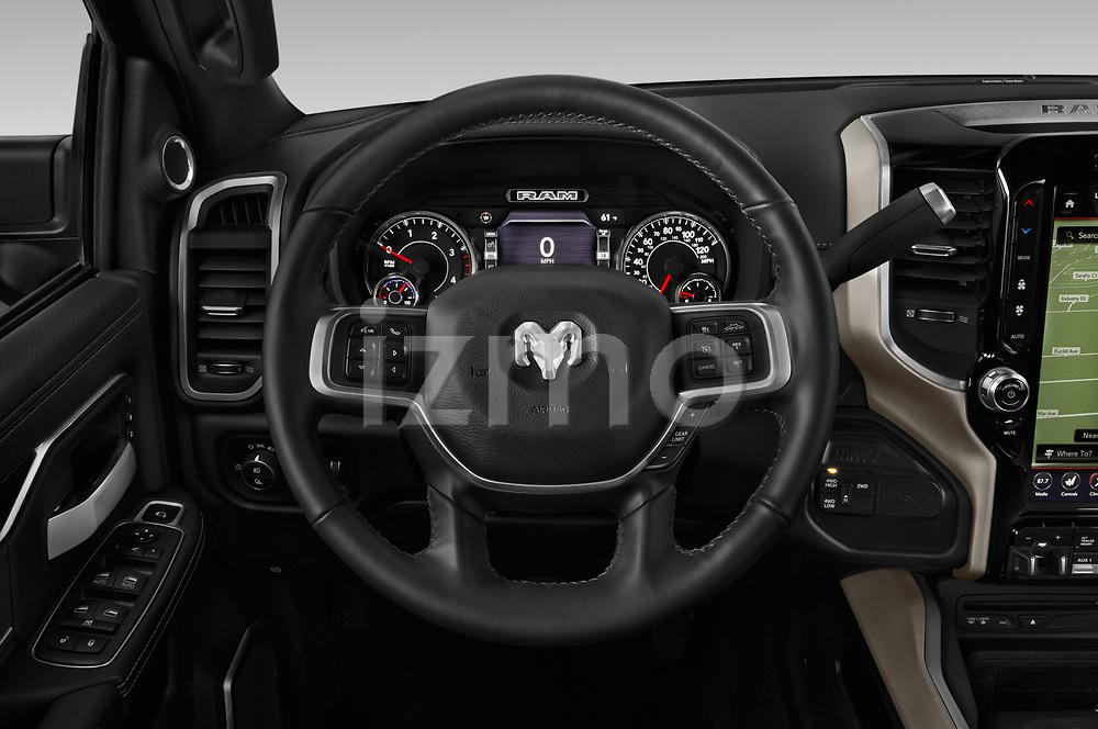 Car pictures of steering wheel view of a 2019 Ram Ram-2500  Laramie 4 Door Pick Up