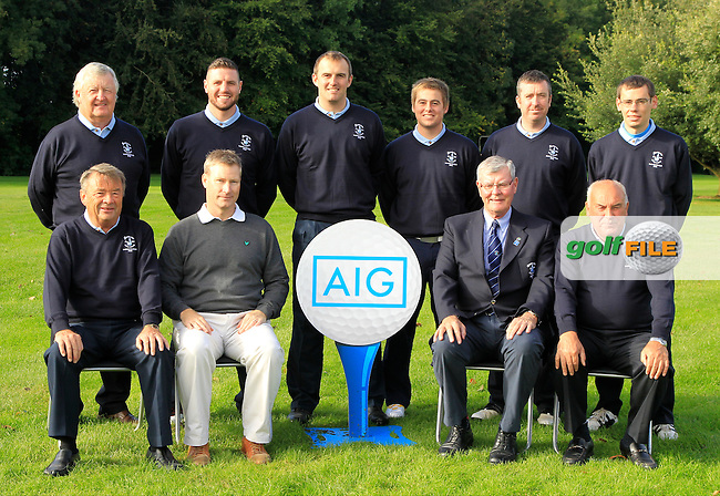 The Rosslare team during for the AIG Cups &amp; Shields Finals in Royal Tara Golf Club on Wednesday 18th September 2013.<br /> Picture:  Thos Caffrey / www.golffile.ie