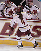 Melissa Bizzari (BC - 4) - The Boston College Eagles defeated the Northeastern University Huskies 3-0 on Tuesday, February 11, 2014, to win the 2014 Beanpot championship at Kelley Rink in Conte Forum in Chestnut Hill, Massachusetts.