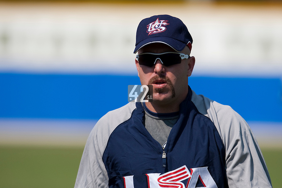 27 September 2009: Jon Weber of Team USA is seen prior to the 2009 Baseball World Cup gold medal game won 10-5 by Team USA over Cuba, in Nettuno, Italy.