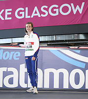 14th February 2020; Glasgow, Scotland;  Laura Muir GBR, at a pre-event photocall. Laura Muir GBR 1000m WR attempt  Five-time European champion and double world indoor medallist  Muir finished 5th at last years World Championships in 3:55.76, her second quickest time ever  Already a holder of five British records 1500m outdoors and the 1000m, 1500m, 3000m and 5000m indoors, Muir will look to break the 1000m world record on Saturday 15 February  The record is 2:30.94 and is held by Maria Mutola