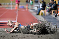Veronica Torr in action during the Athletics - NZ Track and Field Championships at Newtown Park, Newtown, New Zealand on Friday 6 March 2015. <br /> Photo by Masanori Udagawa. <br /> www.photowellington.photoshelter.com.