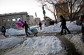 New York, New York<br /> December 29, 2010<br /> <br /> Snow piled up in China Town.