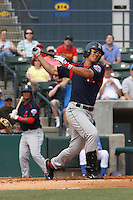 Chih-Hsien Chiang of the Salem Red Sox hitting against  the Myrtle Beach Pelicans on May 3, 2009