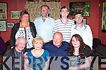 60th: On Friday night in An Tochar Ban, Bar, Kilmoyley Denis Keane with his family and friends celebrated his 60th Birthday. Front l-r: Tom Kennelly, Mary and Denis Keane(Birthday boy) and Fiona keane. Back l-r: Liz and Graham Denault, Peter O'Brien and Jason Doran. ......................   Copyright Kerry's Eye 2008