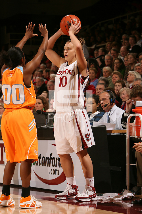 22 December 2007: JJ Hones during Stanford's 73-69 win over Tennessee at Maples Pavilion in Stanford, CA.