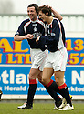 22/04/2006         Copyright Pic: James Stewart.File Name : sct_jspa06_falkirk_v_motherwell.JACK ROSS CONGRATULATES ALAN GOW AFTER HE SCORED FALKIRK'S GOAL..... Payments to :.James Stewart Photo Agency 19 Carronlea Drive, Falkirk. FK2 8DN      Vat Reg No. 607 6932 25.Office     : +44 (0)1324 570906     .Mobile   : +44 (0)7721 416997.Fax         : +44 (0)1324 570906.E-mail  :  jim@jspa.co.uk.If you require further information then contact Jim Stewart on any of the numbers above.........