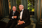 Former Secretary of State Colin Powell, right, attends the Bloomberg Vanity Fair White House Correspondents' Association dinner afterparty at the residence of the French Ambassador on Saturday, April 28, 2012 in Washington, DC. Brendan Hoffman for the New York Times