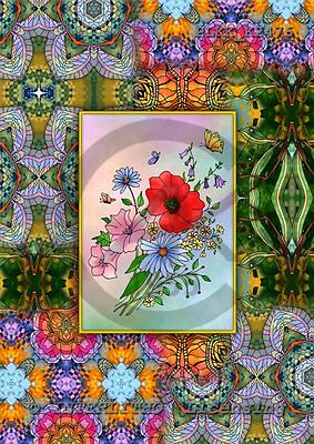 Kris, FLOWERS, paintings+++++,PLKKK2476,#f# Blumen, flores, illustrations, pinturas ,everyday