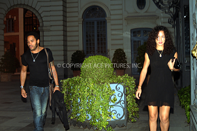 WWW.ACEPIXS.COM . . . . .  ..... . . . . US SALES ONLY . . . . .....May 6 2009, Madrid....Musician Lenny Kravitz was seen out for some night life in Madrid with a companion on May 6 2009 in Spain.....Please byline: JO - ACE PICTURES... . . . .  ....Ace Pictures, Inc:  ..tel: (212) 243 8787 or (646) 769 0430..e-mail: info@acepixs.com..web: http://www.acepixs.com