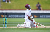 4th December 2017, Basin Reserve, Wellington, New Zealand; International Test Cricket, Day 4, New Zealand versus West Indies;  Roston Chase dejected after being bowled by Henry