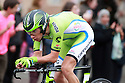 Davide VILLELLA from Team Cannondale race past Queen's University Belfast during the first stage of the 2014 Giro d'Italia, a 21km Team Time Trial stage, May 9, 2014 in Belfast, Northern Ireland.