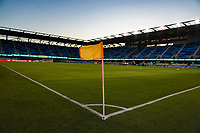 SAN JOSE, CA - SEPTEMBER 26: Corner flag prior to a Major League Soccer (MLS) match between the San Jose Earthquakes and the Philadelphia Union on September 26, 2019 at Avaya Stadium in San Jose, California.