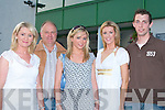 FUN NIGHT: Enjoying a fun night at the Lee Strand evening of racing at the Kingdom Greyhound Stadium on Friday night l-r: Mary, Clem, Adrienne and Densie Lynch, Ballyseedy and Diarmuid Casey, Gortatlea.   Copyright Kerry's Eye 2008