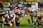 Daniel Crichton packs down on the side of a scrum as the front rows engage. Air New Zealand Cup rugby game between Counties Manukau Steelers & Hawkes Bay, played at Mt Smart Stadium on the 23rd of August 2007. Hawkes Bay won 38 - 14.