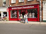 British Heart Foundation charity shop, Beccles, Suffolk, England, UK