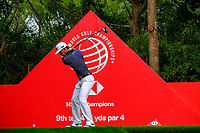 Brian Harmon (USA) on the 9th tee during the 2nd round at the WGC HSBC Champions 2018, Sheshan Golf CLub, Shanghai, China. 26/10/2018.<br /> Picture Fran Caffrey / Golffile.ie<br /> <br /> All photo usage must carry mandatory copyright credit (&copy; Golffile | Fran Caffrey)
