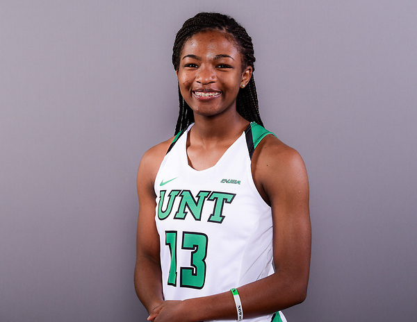 DENTON OCTOBER 24: Mean Green Womens Basketball head shots at Super Pit in Denton on October 24, 2017 in Denton Texas. (Photo Rick Yeatts Photography/Manny Flores)