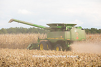 63801-07014 Farmer harvesting corn, Marion Co., IL