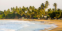 Panoramic photo of Mirissa Beach at sunset, South Coast, Sri Lanka, Asia. This is a panoramic photo of Mirissa Beach at sunset, South Coast, Sri Lanka, Asia.