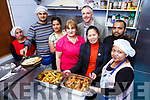 Aslum seeker who prepare the school meals for the pupils in St Olivers NS Killarney l-r: Shagufta Tubsam, Raed Mamoovi, Priya Kumarp, Iamze Makievi, Tim Horgan deputy Principal, Marilyn Catapat-Counihan KASI co-ordinator, Tareq Mahmud Iqbal, and Rahima Begam Mita