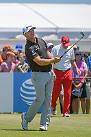 Graeme McDowell (NIR) watches his tee shot on 2 during round 1 of the AT&amp;T Byron Nelson, Trinity Forest Golf Club, at Dallas, Texas, USA. 5/17/2018.<br /> Picture: Golffile | Ken Murray<br /> <br /> <br /> All photo usage must carry mandatory copyright credit (&copy; Golffile | Ken Murray)