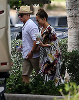 MAY 05 APRIL 13.Jennifer Lopez and Casper during Starbuks break time in Ft.Lauderdale.NON Exclusive.Mandatory Credit: OHPIX.COM..Ref: OH_SOL