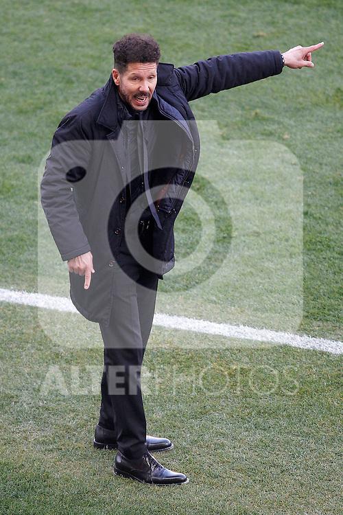 Atletico de Madrid's coach Diego Pablo Cholo Simeone during La Liga match. February 26,2017. (ALTERPHOTOS/Acero)