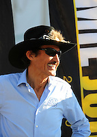Nov. 16, 2008; Homestead, FL, USA; NASCAR Sprint Cup Series team owner Richard Petty prior to the Ford 400 at Homestead Miami Speedway. Mandatory Credit: Mark J. Rebilas-